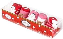 Country Kids Baby-girls Newborn Winter Wonderland Booties, Multi, 0-3 Months