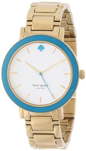 kate spade new york Women's 1YRU0254 Turquoise Bezel Gold Gramercy Watch