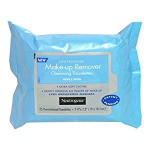 Neutrogena Makeup Remover Cleansing Towelettes, 25 Count (Pack-6)