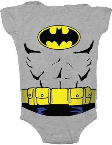 Batman Uniform Costume Charcoal Gray Snapsuit Infant Onesie Baby Romper (12 Months) front-929309