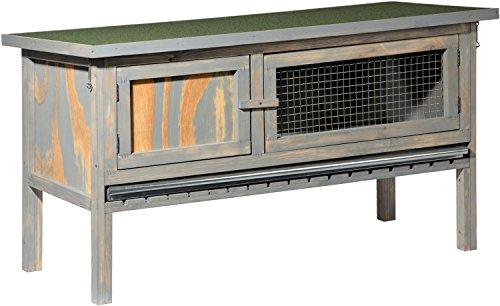 dobar-23419FSC-Kaninchenstall-Camouflage-Design-Hasenstall-mit-zwei-Fronttren-und-Zinkwanne-119-x-45-x-65-cm-hellbraungrau