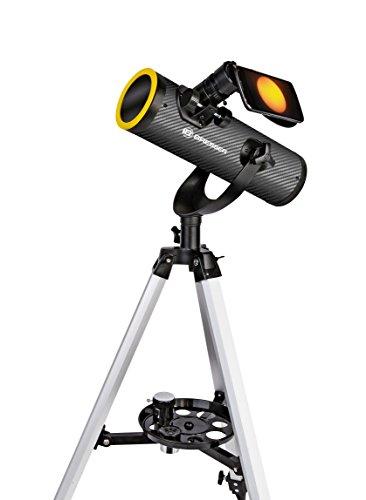 Bresser Télescope solarix 76/350 mm avec filtre solaire Noir