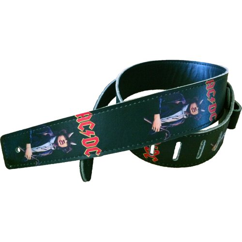 Hot-Picks-AC-DC-Highway-to-Hell-Collectable-Vinyl-Guitar-Strap