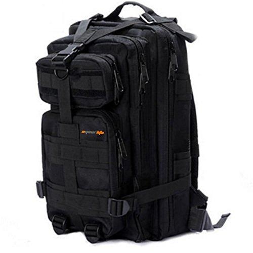 Sport Outdoor Military Rucksacks Tactical Molle Backpack Camping Hiking Trekking Bag-Black