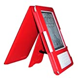TrendyDigital EasyRead Platform Style eReader Jacket for Amazon Kindle 2, with Handsfree Viewing Stand & Embedded Corner Closure, Red