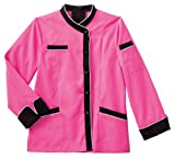 White Swan Long Sleeve Ladies Long Sleeve Executive Coat with Mesh Back Vent (Shocking Pink, 2X)