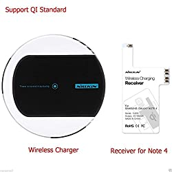 Nillkin Magic Disk II Qi Wireless Charger Dock Station + Wireless Charging Receiver for Samsung Galaxy Note 4 N9100