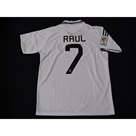 08-09 REAL MADRID JERSEY RAUL + FREE SHORT (SIZE M)