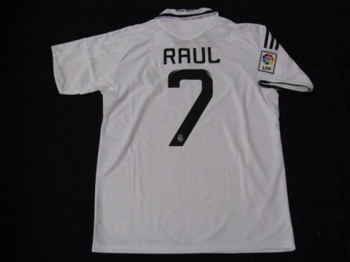 08-09 REAL MADRID JERSEY RAUL + FREE SHORT (SIZE XL)