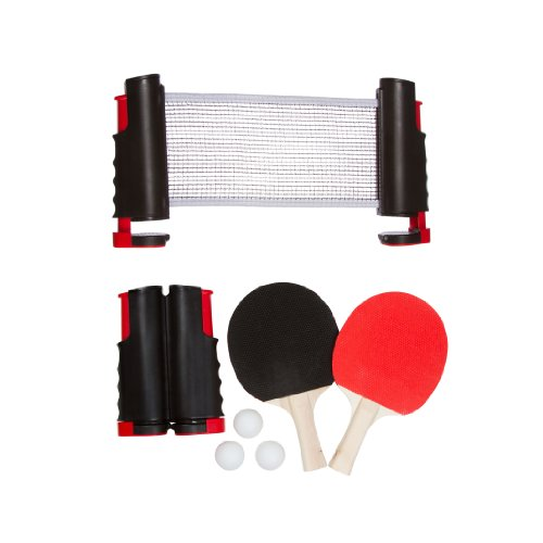 Big Save! Trademark Innovations Anywhere Table Tennis Set with Paddles and Balls