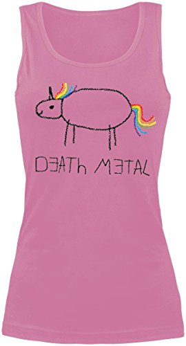 Death Metal Top donna rosa pallido XL