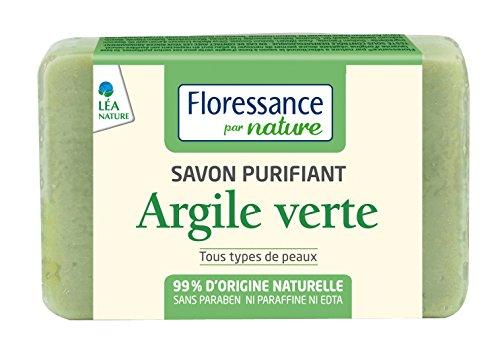 Floressance dalla Natura purificante Sapone Argilla Verde Montmorillonite 100g Set di 4