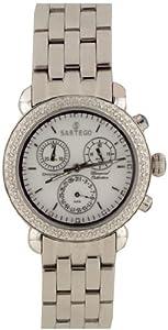 Unisex Watch Sartego SDWT385S Diamond Chronograph White Dial