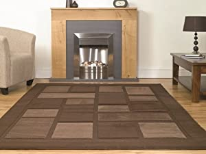 Small Large Plain Chocolate Brown Cheap High Quality Rugs 8 Sizes  Contempo       Customer reviews and more news