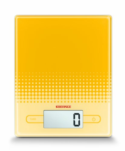 Soehnle 66205 balances Plastique, Verre Jaune
