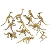 Rhode Island Novelty Assorted Dinosaur Fossil Skeleton 5-6&quot; Figures, 12-Piece