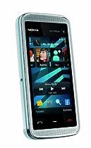 Nokia 5530 XpressMusic Handy (WLAN, Touchscreen, 3D-Surround-Sound, Kamera mit 3,2 MP) white blue