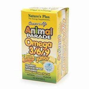 Nature's Plus Animal Parade, Omega 3/6/9 Junior Children's Fatty Acid Dietary Supplement 90 softgels (Animal Parade Omega 3 compare prices)