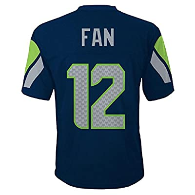 Seattle Seahawks 12th Fan NFL Youth Mid-Tier Team Jersey Navy
