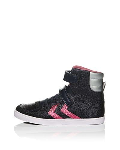 Hummel Sneaker Alta Sl Stadil Jr Glitter Hi [Blu Navy/Rosa Scuro]