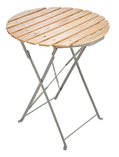 Holz-Klapptisch-rund--60-cm-mit-Metallgestell-witterungsbestndiger-Biergartentisch