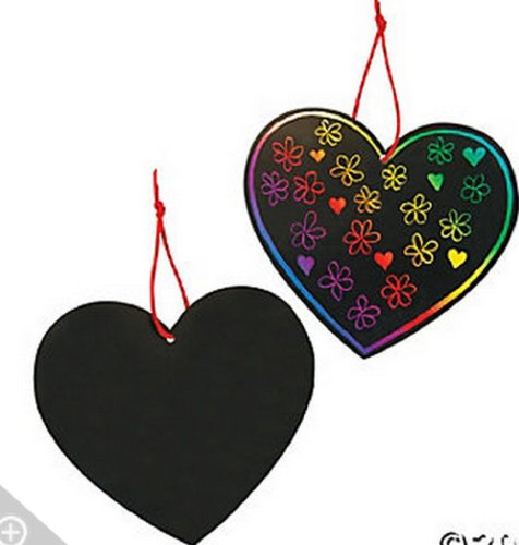 Magic Color Scratch Hearts 2 Dozen/Activities/School Supplies/Valentine's Day/Toys