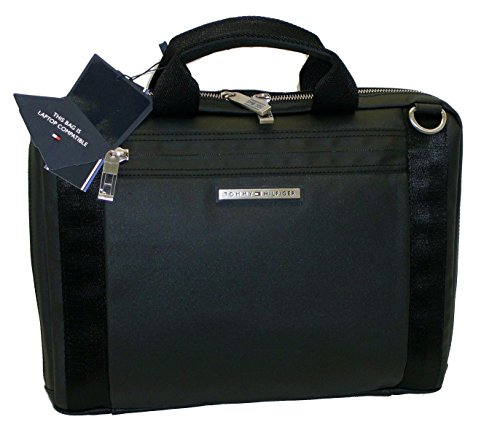 TRACOLLA UOMO Sheldon tommy hilfiger TH 23113 porta pc uomo computer bag nero