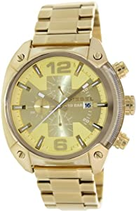 Diesel Men's DZ4299 Overflow Analog Display Analog Quartz Gold Watch