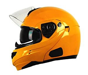 Vega Summit 3.0 Modular Full Face Helmet (Pearl Yellow, XX-Large)