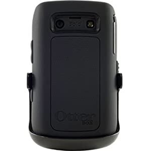 OtterBox Defender Series Three-Layer Protection Case Cover with Screen Protector and Holster Style Swivel Belt Clip for BlackBerry BlackBerry Bold 9700/9780 - Black