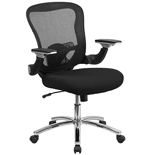 mid-back-black-mesh-executive-swivel-office-chair-with-mesh-padded-seat-and-height-adjustable-flip-u