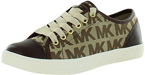 Michael Michael Kors Women'S Mk City Sneaker (Mocha Logo 9.0 M)