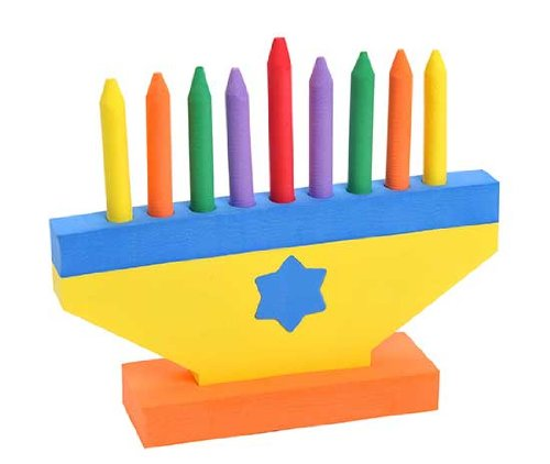 Colorful Children's Foam Menorah