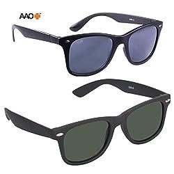 AAO+ Combo Wayfarer Sunglasses-d004 (Green)