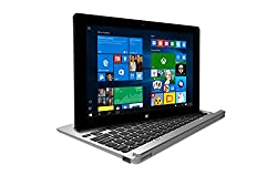 Lava twinpad 10.1-inch 2-in1 Touchscreen Laptop (T100/2GB/32GB/Windows 10/Integrated Graphics/Smart Pouch), Silver