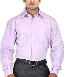 SPEAK Plain Purple Regular Fit Formal Men's Shirt