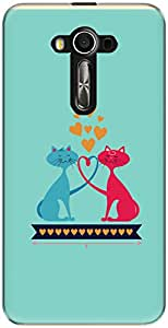 The Racoon Grip Catty Love hard plastic printed back case/cover for Asus Zenfone 3 Laser Ze 520Kl
