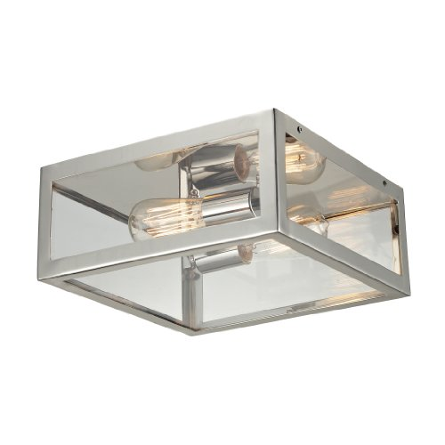 Elk Lighting 31211/2 Parameters Two Light Semi-Flush, Polished Chrome