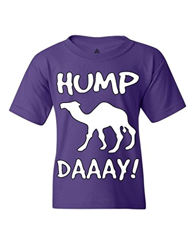 Camel Commercial HUMP DAY Youth's T-Shirt Funny Sayings Shirts Youth Medium Purple