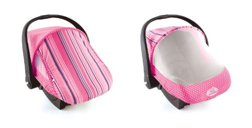 Sun & Bug Cover - Pink Stripe front-384891