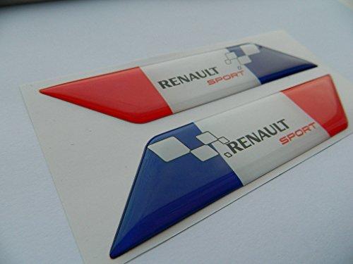 X2 SET OF RENAULT SPORTS FRANCE FLAGE BADGE EMBLÈMES