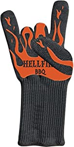 Hellfire BBQ Gloves Protect from Flames and Heat up to 666F--That's Devilishly Hot!... by Hellfire BBQ