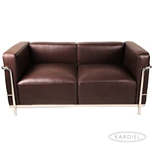 Kardiel Le Corbusier Style Lc3 Loveseat Choco Brown