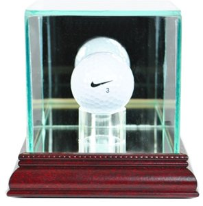 PGA Golf Ball Glass Display Case, Cherry (Gold Ball Display compare prices)