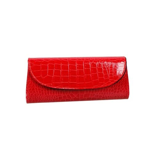 Bundle Monster Womens Fashion Classy Envelope Evening Patent Croc Skin Embossed Clutch Hand Bag Purse