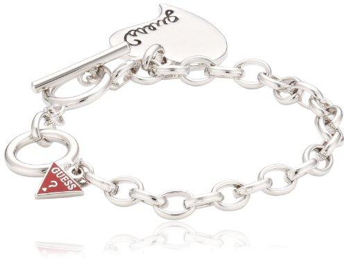 Guess Damen-Armband Metall mit Herzanhänger UB306500 thumbnail