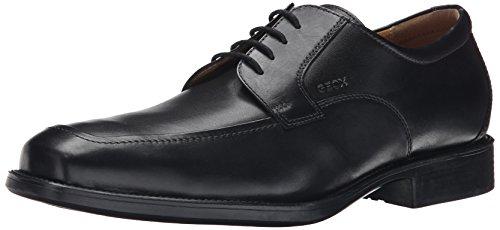 Geox U FEDERICO Y - Scarpe Stringate Uomo, Nero (BLACKC9999), 46 EU