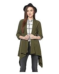 Yepme Women's Green Polyester Shrugs & Capes - YPMSHRUG5006_L
