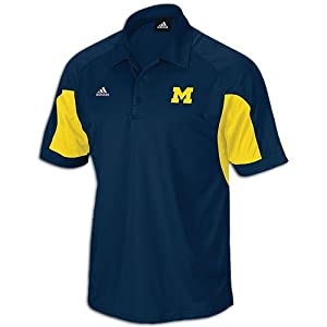 Adidas Michigan Wolverines Coaches ClimaCool Polo Shirt by adidas