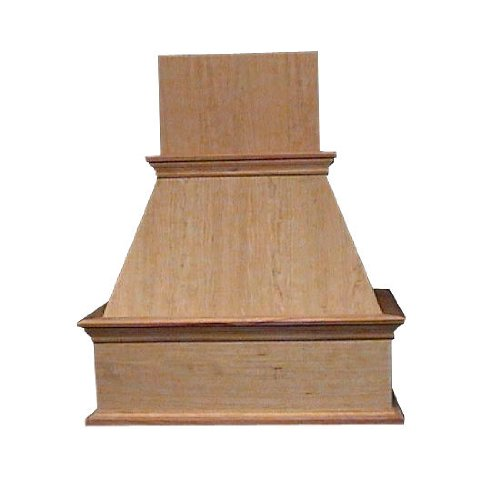 Fujioh 48 Inch Decorative Wall Mount Wood Range Hood, 50 Inch W X 20-5/8 Inch D X 42 Inch H, Maple (Cfm Depends On Choice Of Blower, Not Included)